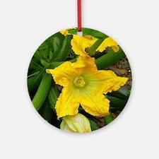 Squash Blossom Round Ornament