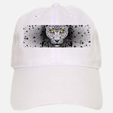 White Leopard with Yellow Eyes Baseball Baseball Baseball Cap