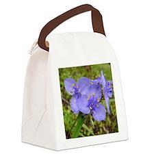 Dainty Blue Canvas Lunch Bag