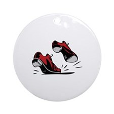 Tap Dancing Shoes Ornament (Round)
