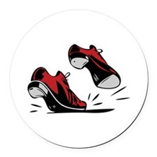 Tap Dancing Shoes Round Car Magnet