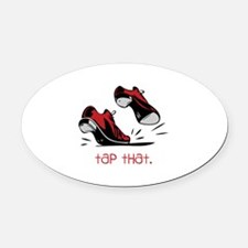 tap that. Oval Car Magnet