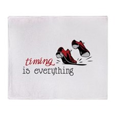 timing is everything Throw Blanket