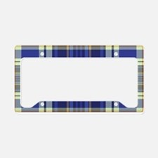 Blueberry Muffin Plaid License Plate Holder