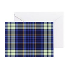 Blueberry Muffin Plaid Greeting Card