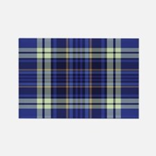Blueberry Muffin Plaid Rectangle Magnet