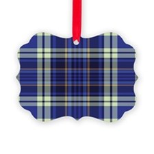 Blueberry Muffin Plaid Ornament