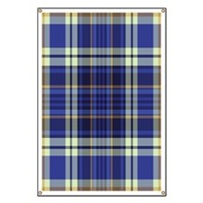 Blueberry Muffin Plaid Banner