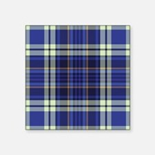 "Blueberry Muffin Plaid Square Sticker 3"" x 3"""