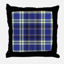 Blueberry Muffin Plaid Throw Pillow