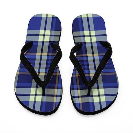 Blueberry Muffin Plaid Flip Flops
