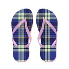 Blueberry Muffin Plaid Flip Flops