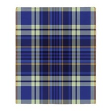 Blueberry Muffin Plaid Throw Blanket