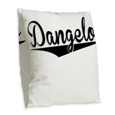 Dangelo, Retro, Burlap Throw Pillow