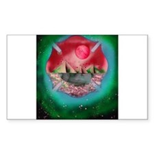 shield red green planet pyramids Decal