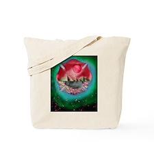 shield red green planet pyramids Tote Bag