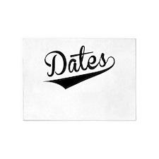 Dates, Retro, 5'x7'Area Rug