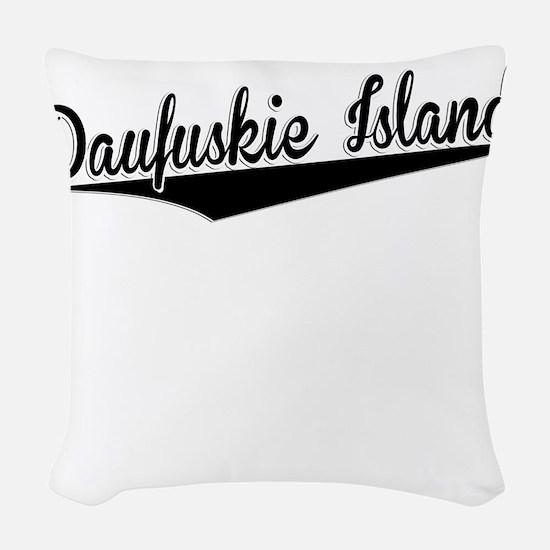 Daufuskie Island, Retro, Woven Throw Pillow