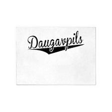 Daugavpils, Retro, 5'x7'Area Rug