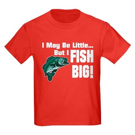 I Fish Big! Kids Dark T-Shirt