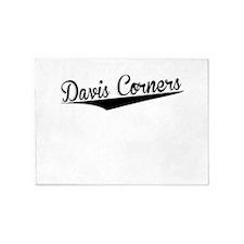 Davis Corners, Retro, 5'x7'Area Rug