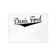 Davis Ford, Retro, 5'x7'Area Rug