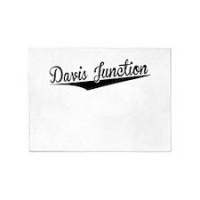 Davis Junction, Retro, 5'x7'Area Rug