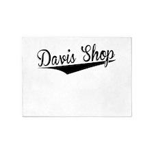 Davis Shop, Retro, 5'x7'Area Rug