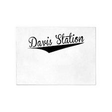 Davis Station, Retro, 5'x7'Area Rug