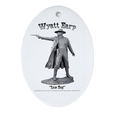 Wyatt Earp Oval Ornament
