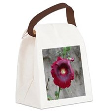 Deep Red Canvas Lunch Bag