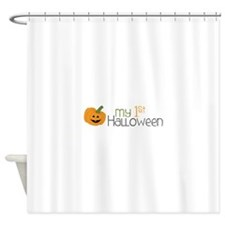 my 1st Halloween Shower Curtain