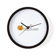 my 1st Halloween Wall Clock