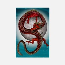 Fantasy Eastern Red Dragon Magnets