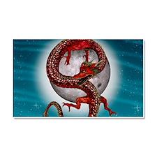 Fantasy Eastern Red Dragon Car Magnet 20 x 12