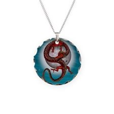 Fantasy Eastern Red Dragon Necklace