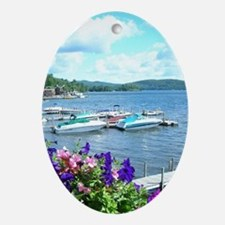 Lake George View Oval Ornament