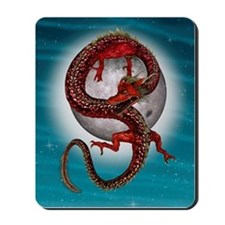Fantasy Eastern Red Dragon Mousepad