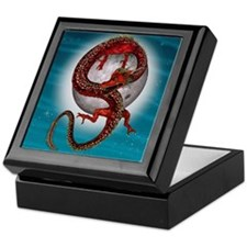 Fantasy Eastern Red Dragon Keepsake Box