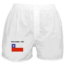 Custom Chile Flag Boxer Shorts