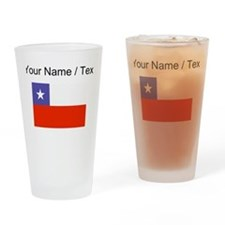 Custom Chile Flag Drinking Glass