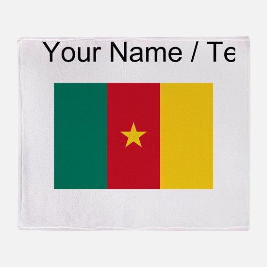 Custom Cameroon Flag Throw Blanket