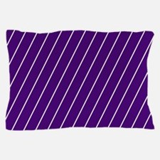 Purple and White Striped Pillow Case