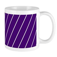 Purple and White Striped Mugs