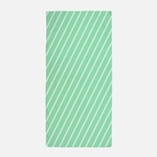Mint and White Striped Beach Towel