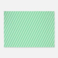 Mint and White Striped 5'x7'Area Rug
