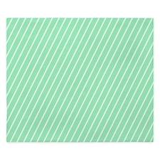 Mint and White Striped King Duvet
