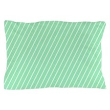 Mint and White Striped Pillow Case