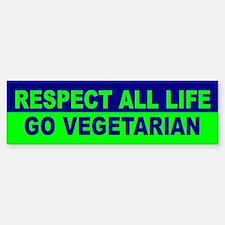 RESPECT ALL LIFE Bumper Car Car Sticker