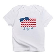 Girly Rick Rack Flag Infant T-Shirt
